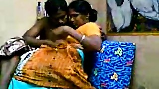 Aunty with her devor, together enjoying Getting Drilled After Heavy Whoppers Sucking -..
