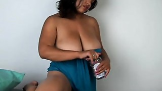 Charming big pointer sisters and abdomen ebon BBW plays with her juicy snatch for u
