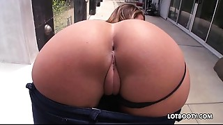 Overweight butt and natural big melons of beautiful Layla London