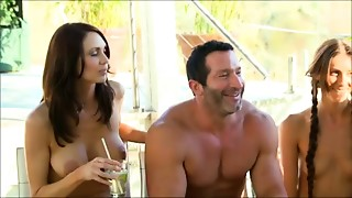 Recent young couple goes to a swingers party for the First time
