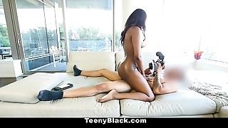 Teenyblack- Hot Swarthy Teenie First Porn