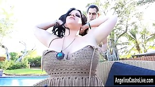 Angelina Castro Sucks Off the Poolboy!