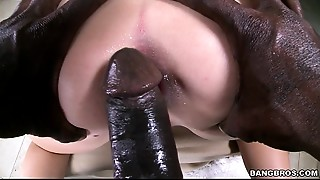 Big White A-hole gets Black 10-Pounder Anal dance