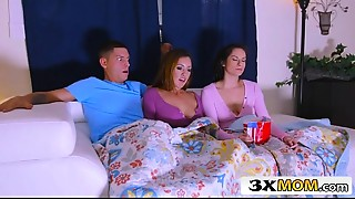 Latina MILF Joins Her Stepdaughter Alexis Deen and Her BF for a Video Night Sex