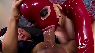 Latex Lucy and Katia get the Daylights Drilled without 'em