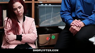 Shoplyfter - Teenie Strip Searched &_ Screwed by Creepy Man