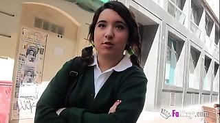 Jordi el niñ_o polla and 18yo small titted schoolgirl shag hard