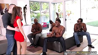 Birthday Team fuck with Hawt Mom Alana Cruise
