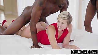 BLACKED Housewife Fucks 2 BBCs