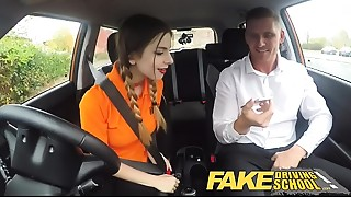 Fake Driving School can't live out of her big natural young titties pov sex