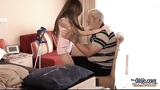 Older Youthful - Big Rod Older fellow Screwed by Legal age teenager that playgirl licks..