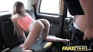 Fake Taxi Slender golden-haired likes it rough in back of cab