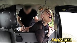 Fake Taxi golden-haired milf gets surprise anal-copulation sex and rims the driver