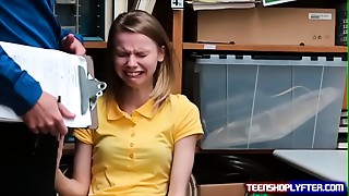 Poor slender young slut Catarina Petrova thief deal with repercussions