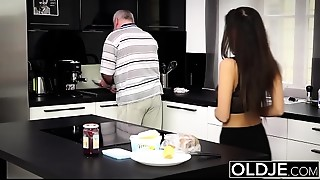 Juvenile Breasty Juvenile whore Takes Facial Jizz flow From Mature dude In Mature..