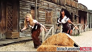 DigitalPlayground - Rawhide Scene 5 Jasmine Webb and Jessa Rhodes and Juan Lucho