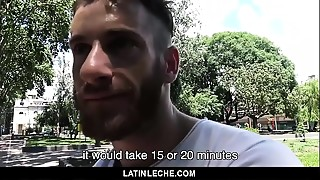 LatinLeche - Latin straight guy reluctantly fucks and sucks on camera
