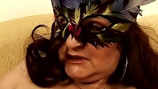 Masked aged lady Marianne
