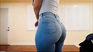 Hot Big Arse Latin babe In Jeans