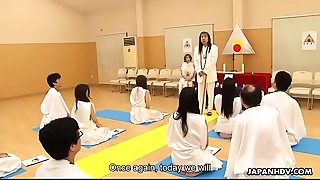 Marvelous Japanese sweetheart religiously worships knobs like they are deities