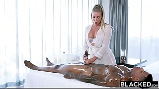 BLACKED Samantha Saint Cant Resist Huge ebony meat and Ass-licking
