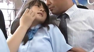 School cutie drilled in bus
