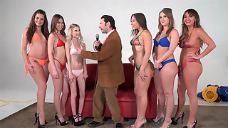 Girling - Abella D, Charlotte C and Harley J in lesbo oil toy act of love
