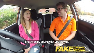 Fake Driving School - teaching young slut leaners - 100% pass rate
