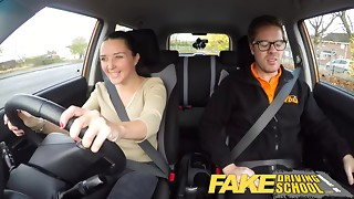 Fake Driving School little English legal age teenager receives drilled after her lesson