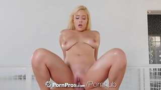 PORNPROS Big breasted golden-haired Kylie Page raunchy massage and bang