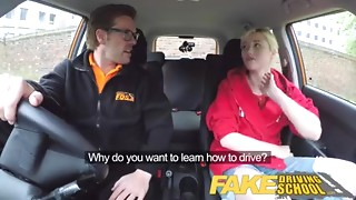 Fake Driving School Back seat cum-hole squirting and creampie for art student