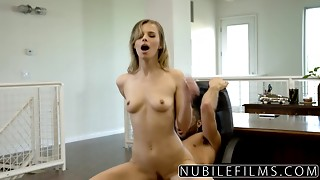 NubileFilms - Office Bitch Screwed Untill This babe Squirts