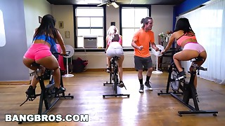 BANGBROS - Curvy Latin chick Rose Monroe Screwed in Spin Class by Brick Danger