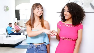 DaughterSwap - Teenies Accede To Bang Every Other's Daddies