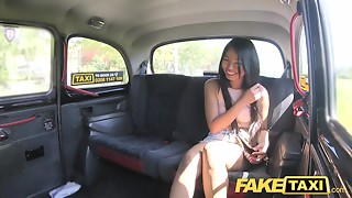 Fake Taxi Hawt Thai lady with pierced pink flaps can't live without British cock