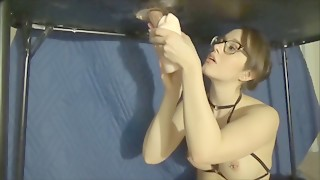 Milking table with pornhub toy