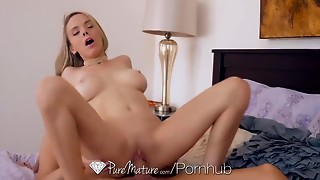PureMature Big breasted Mother I'd like to screw Pristine Edge screw and facial previous..