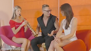 Acquire screwed from our Music teacher (22cm) Little Caprice & Gina Gerson