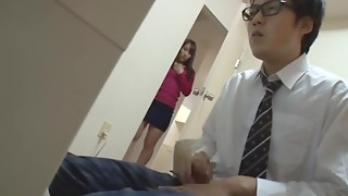 Japanese wife finds out neighbour lad is wanking to her