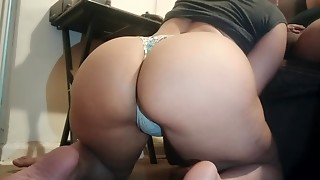 Skinny Thick latin babe sucks and bonks for the camera