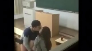 Chinese student fucking in school.....Teacher caught student red handed