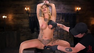 Large Boobed ALT Gal in Grueling Slavery and Tormented