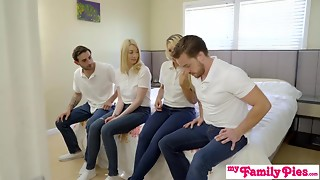 StepSiblings Fuckfest Bonk In Front Of Stepmother - MyFamilyPies S3:E4