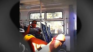 Latin chick Honey Can't Stop Looking At Large Penis On Bus
