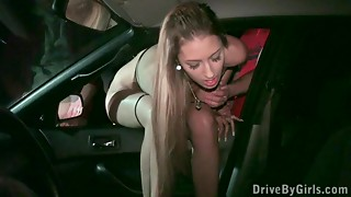 Marvelous young slut angel and anonymous dudes dogging gang group-sex Part 3