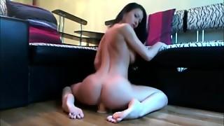 Breasty honey riding sex-toy