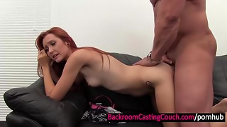 Cute Redhead A-hole Screwed and Creampied
