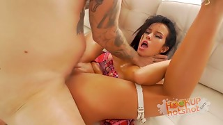 Megan Rain Meets Hookup Hotshot for Anal-copulation