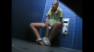 Masturbating in Public Bath (Hidden Camera)