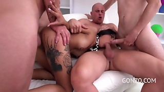 Lalin girl Hotty With Tattooed Haunches Acquires Group-fucked